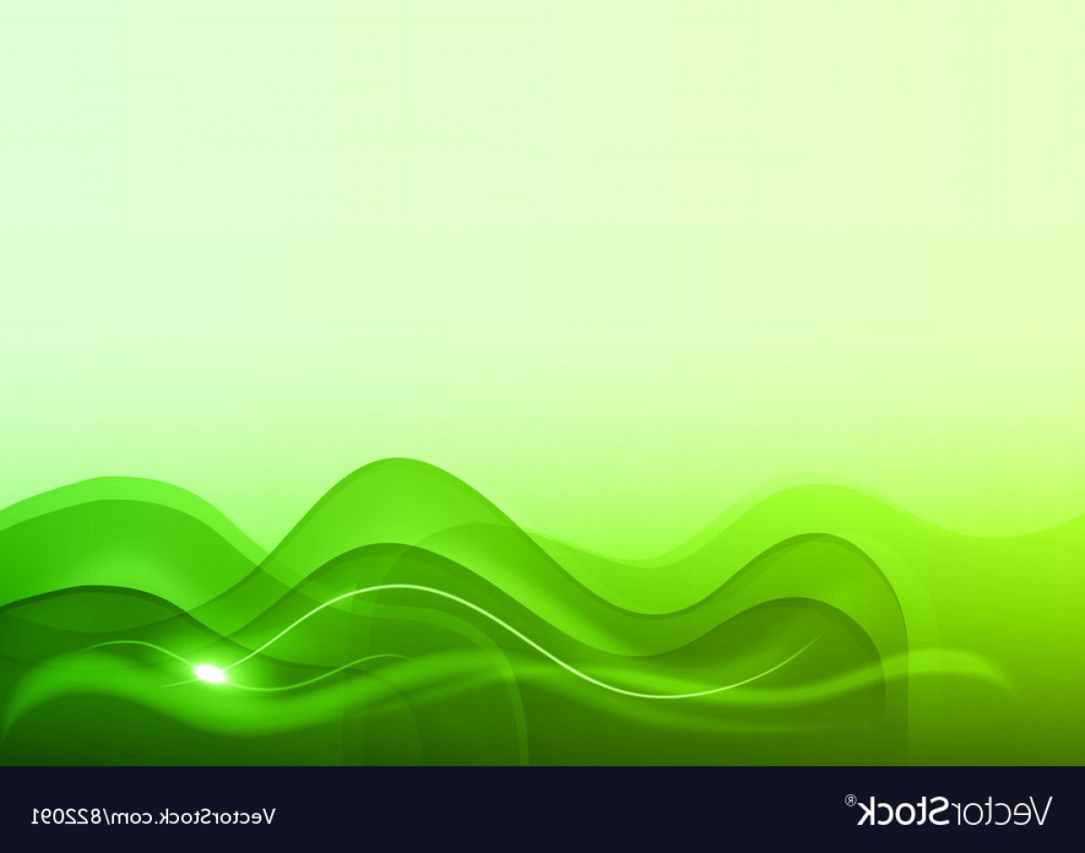 Green And White Vector: Wave Neon Light White Green Vector