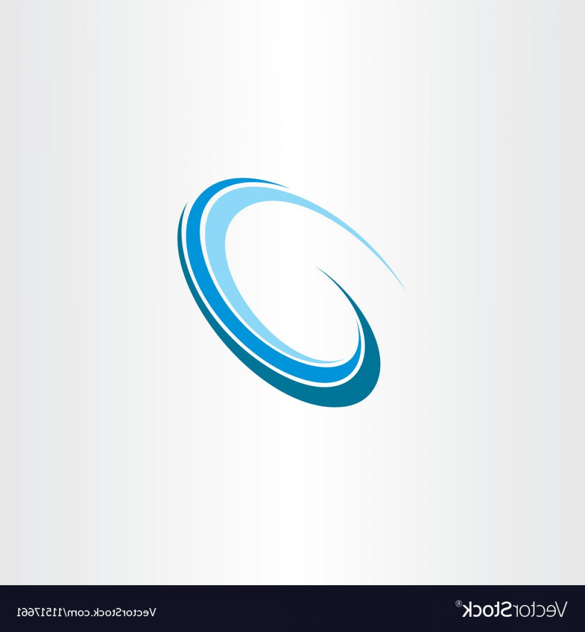 Water Flow Vector: Wave Water Flow Design Icon Logo Vector