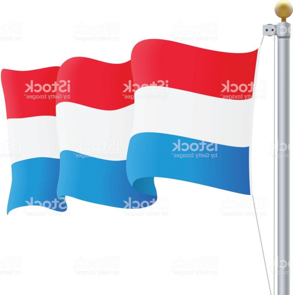 Thrasher Vector: Waving Luxembourg Flag Isolated On A White Background Vector Illustration Gm