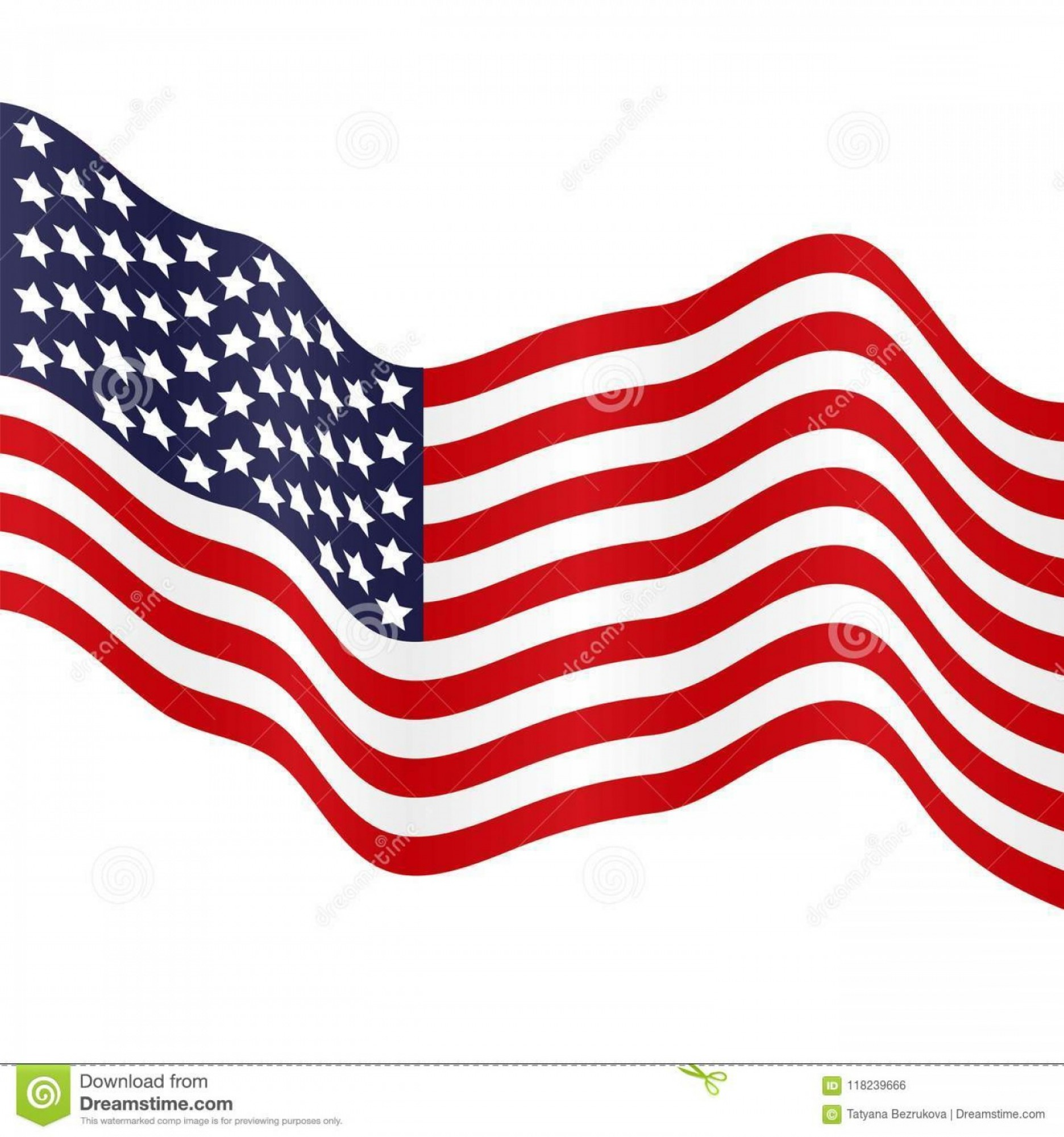 Rustic American Flag Vector: Waving Us Flag Vector Black And White