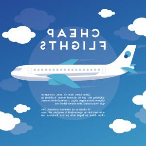 Airplane Travel Vectors: Web Travel Vector Background With Airplane