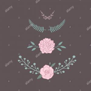 Peonies Watercolor Vector Wreath-Rustic: Wedding Invitation With Dahlia Peonies And Wild Vector