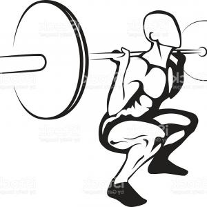 Weightlifter Vector Art: Athletic Club Or Gym Emblem Set Vector Clipart
