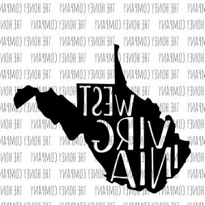 West Virginia Vector Files: West Virginia Svg Png Dxf State Outline