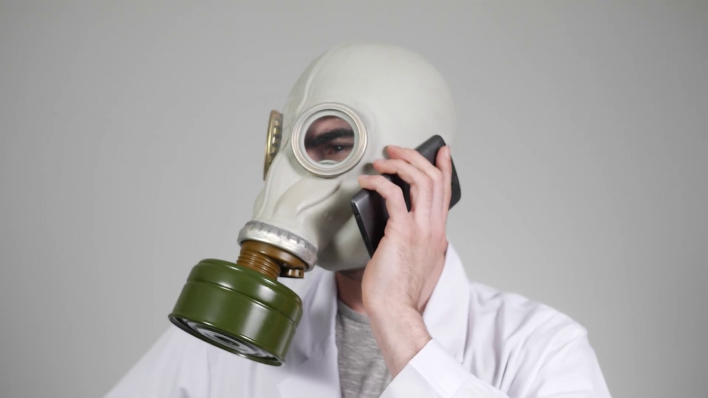 Gas Mask Suit And Tie Vector: Wearing A Gas Mask And Talking On The Phone Ricaww Ebjjiop