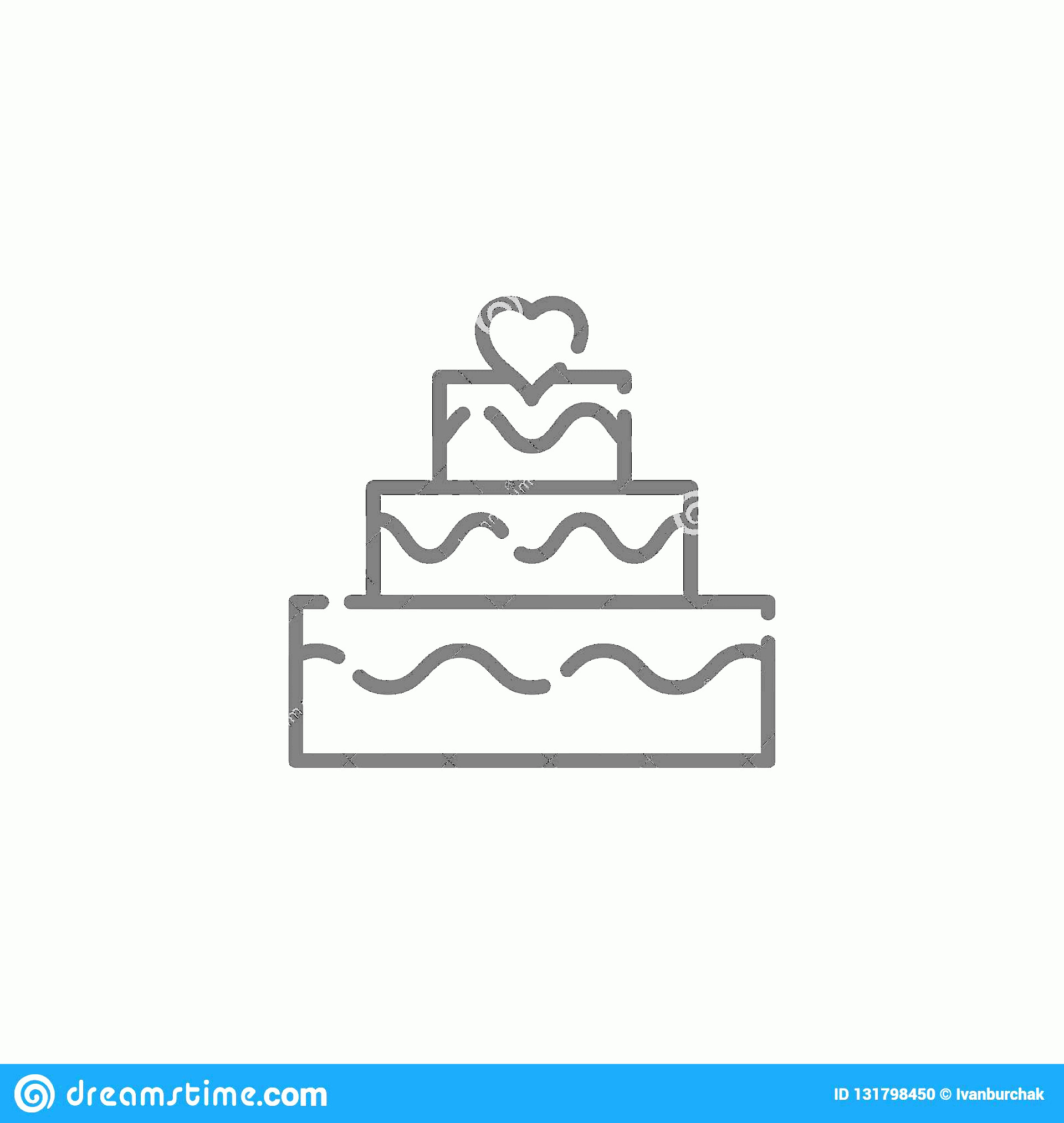 Vector Abstract Art Cake: Wedding Cake Vector Line Icon Symbol Pictogram Sign Light Abstract Geometric Background Editable Stroke Wedding Cake Vector Line Image