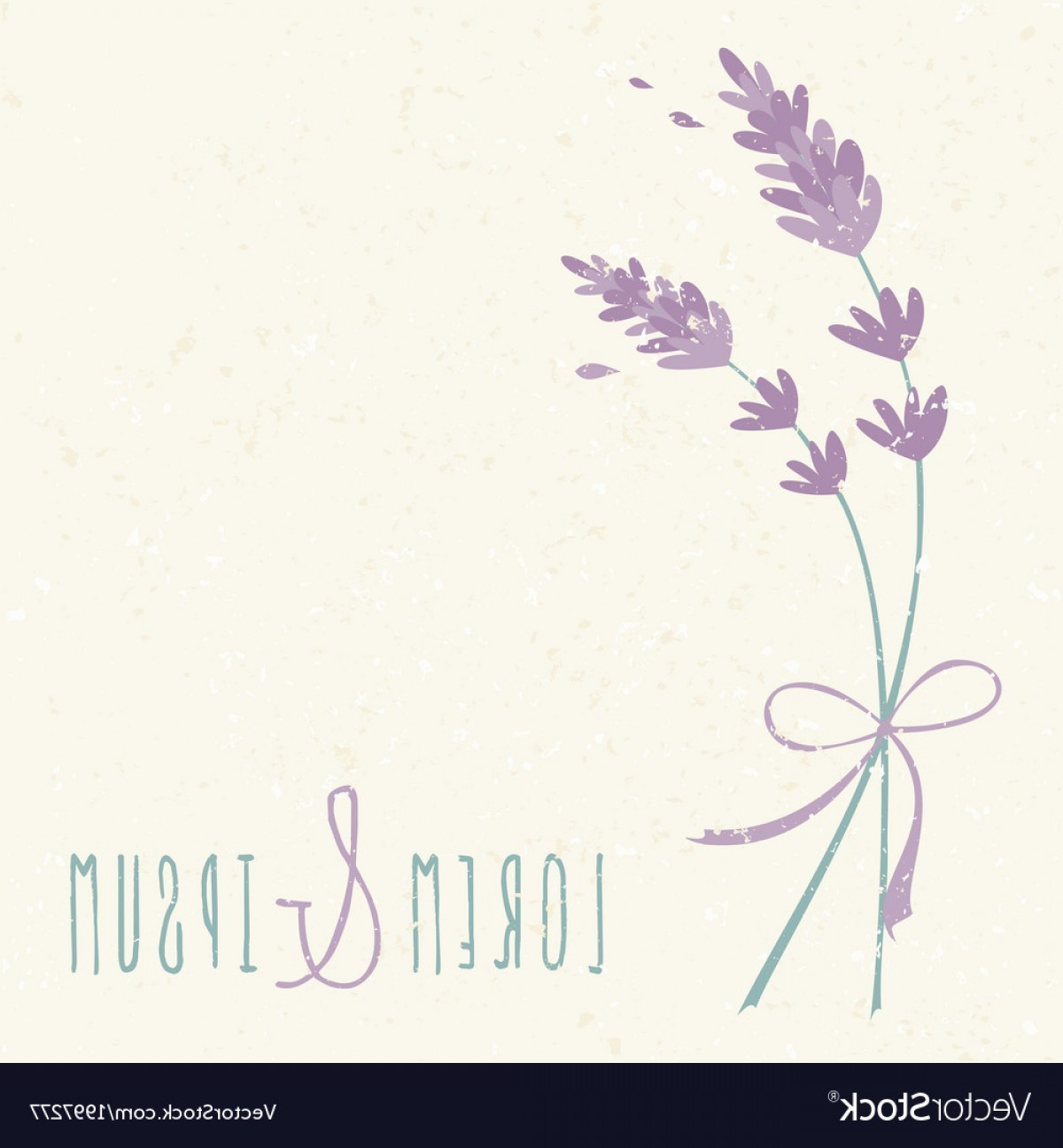 Lilac Wedding Vectors: Wedding Day Design Invitation Lavender Flowers Vector