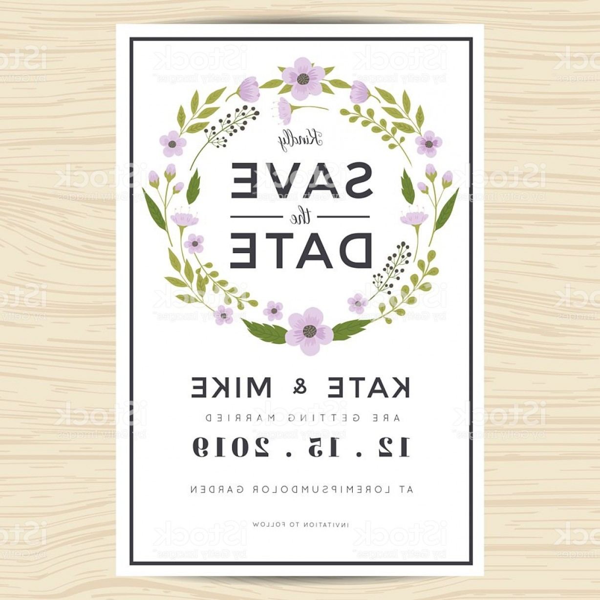 Lilac Wedding Vectors: Wedding Invitation Cards Vector Free Download
