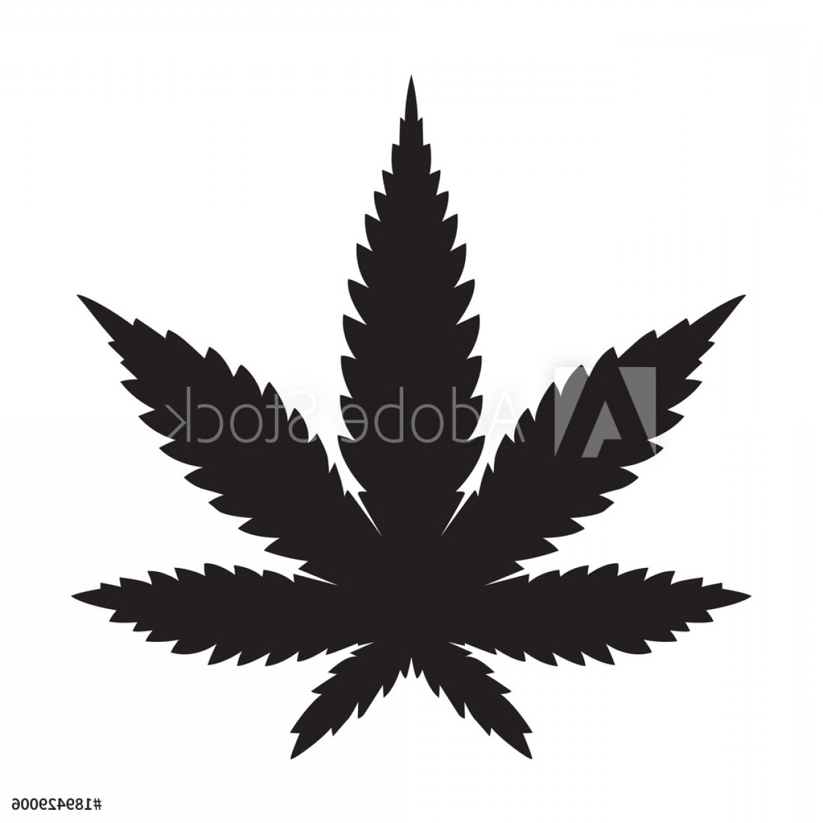 Black And White Vector Image Of Weed Plants: Weed Marijuana Cannabis Leaf Vector Icon Logo Illustration F