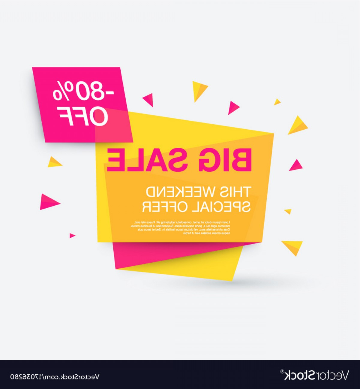 Special Offer Vector: Weekend Sale Banner Special Offer Vector
