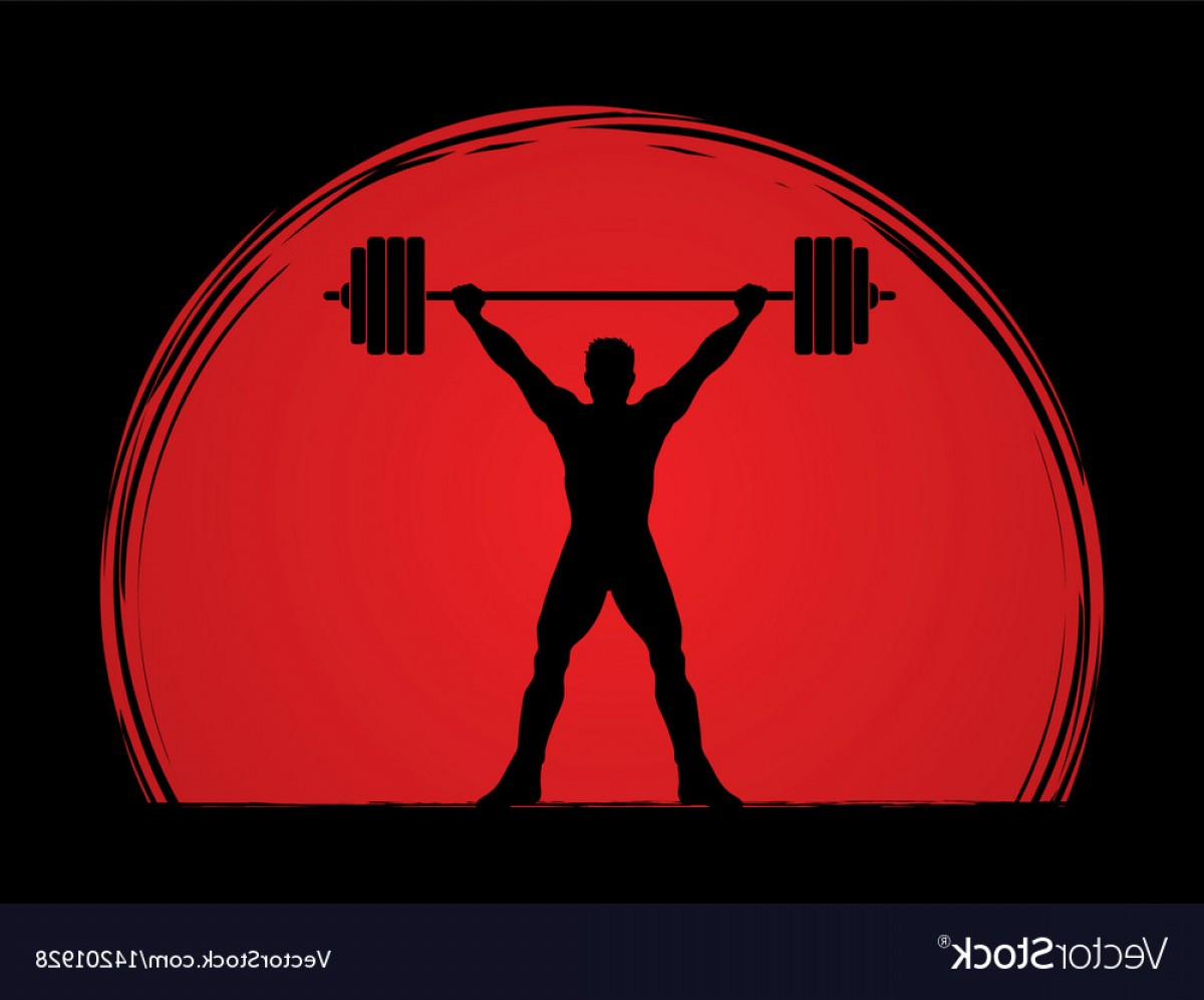 Weight Lifting Vector Graphics: Weight Lifting Shape Graphic Vector
