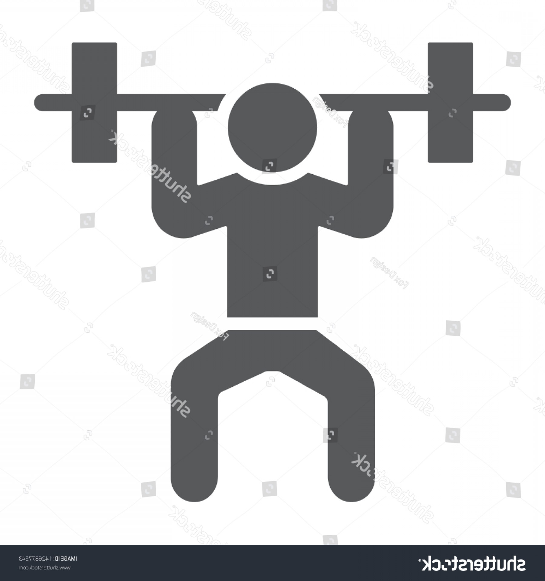 Weight Lifting Vector Graphics: Weightlifter Glyph Icon Sport Bodybuilding Weightlifting