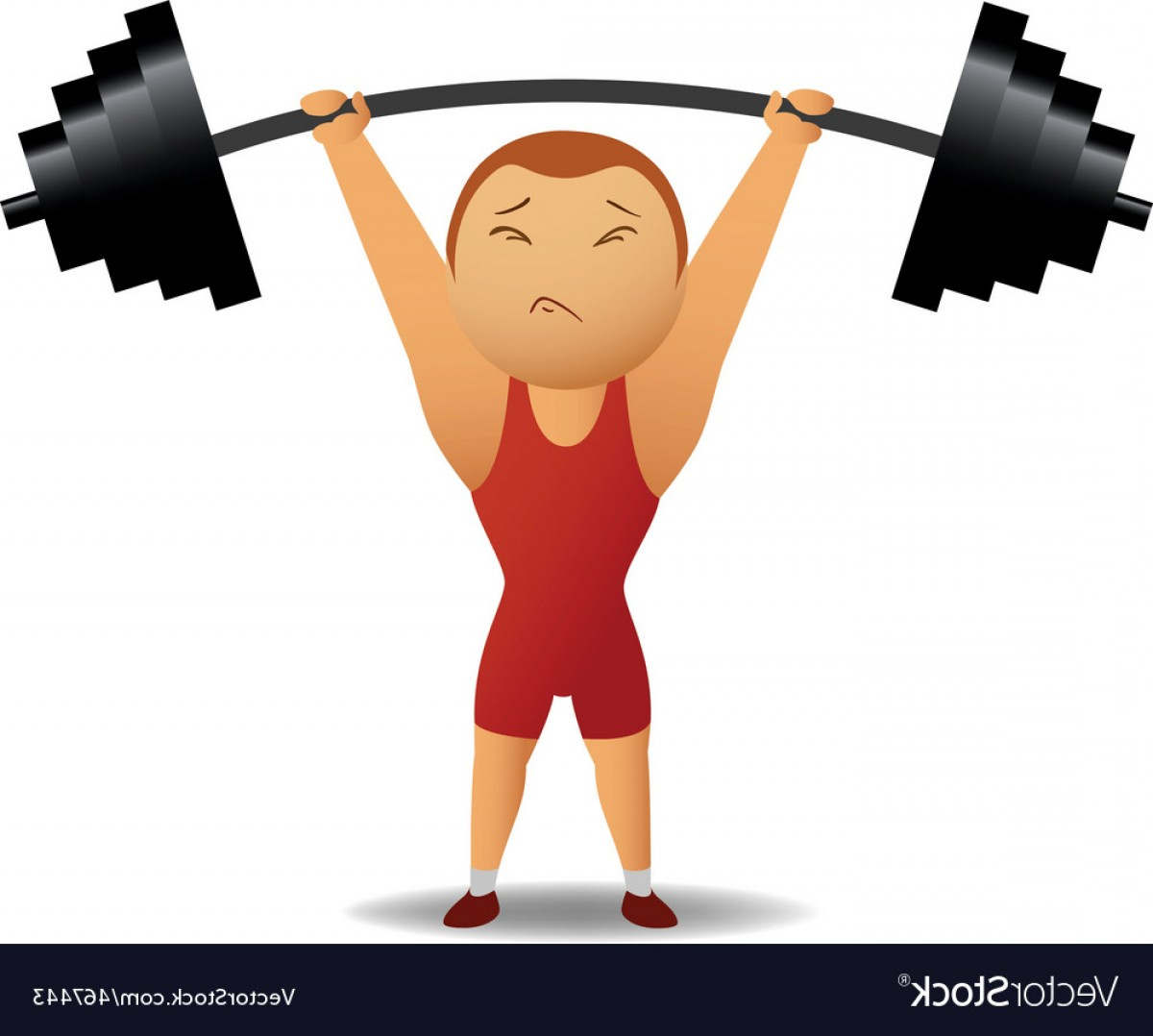 Weightlifter Vector Art: Weightlifter Lift Up The Rod Vector