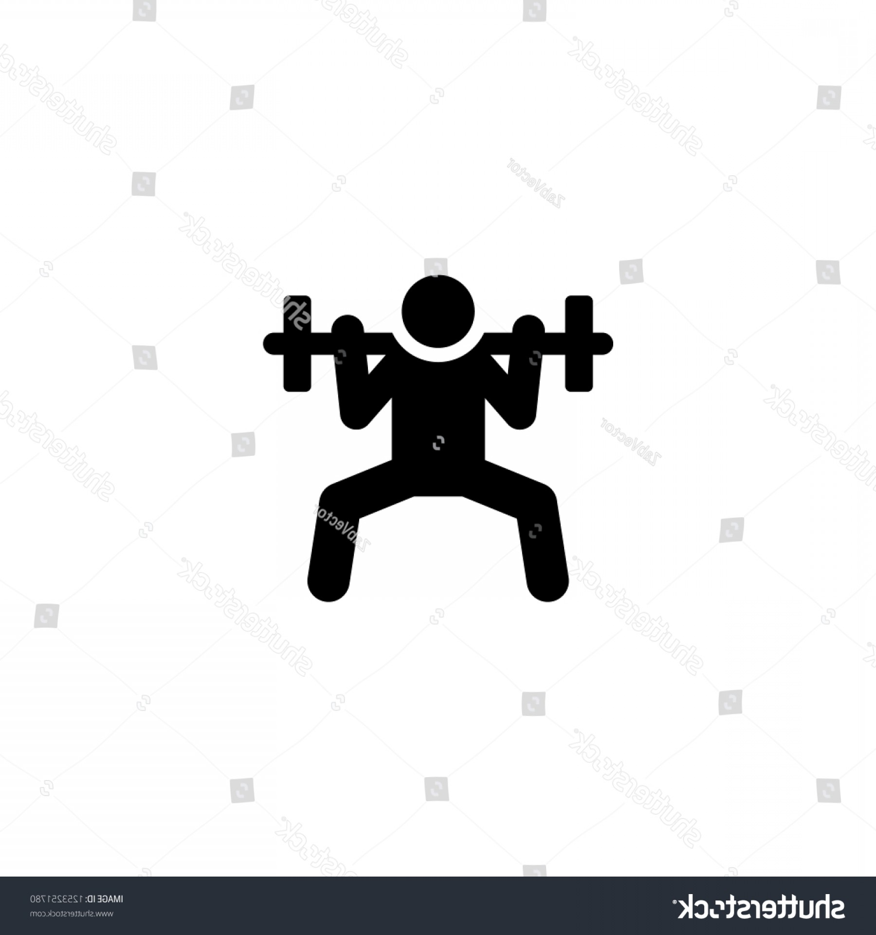 Weight Lifting Vector Graphics: Weightlifting Icon Vector Graphic Illustration