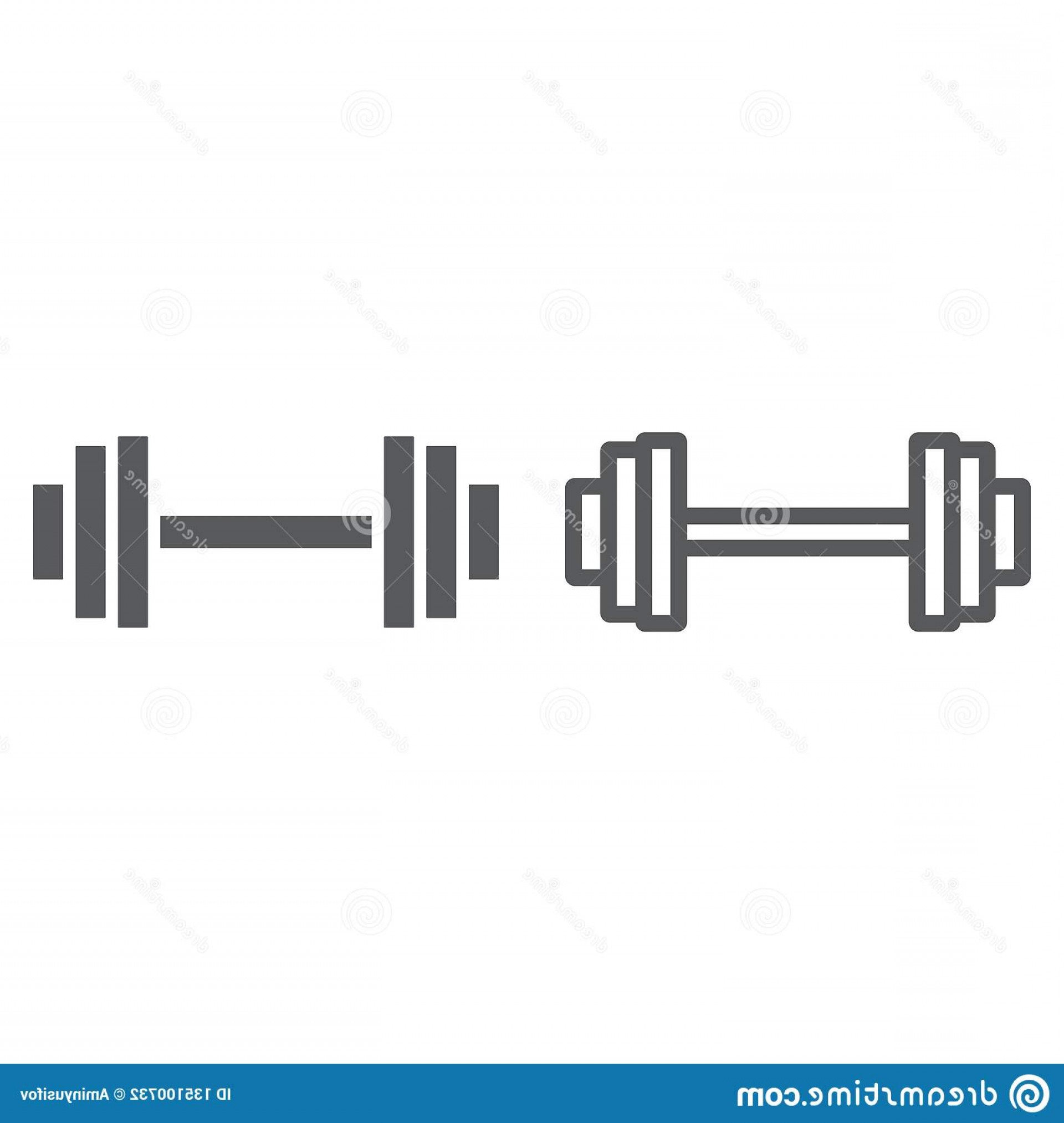 Weight Lifting Vector Graphics: Weightlifting Line Glyph Icon Gym Sport Barbell Sign Vector Graphics Linear Pattern White Background Weightlifting Image