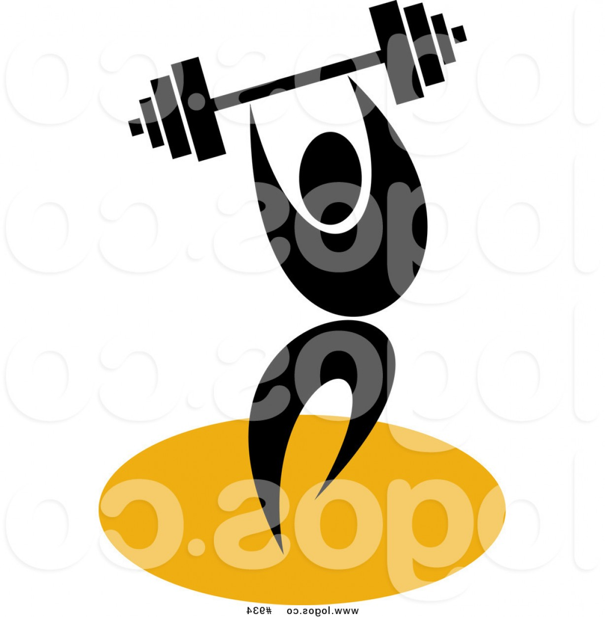 Vector Weight Lifting: Weightlifting Royalty Free Vector Logo By Patrimonio