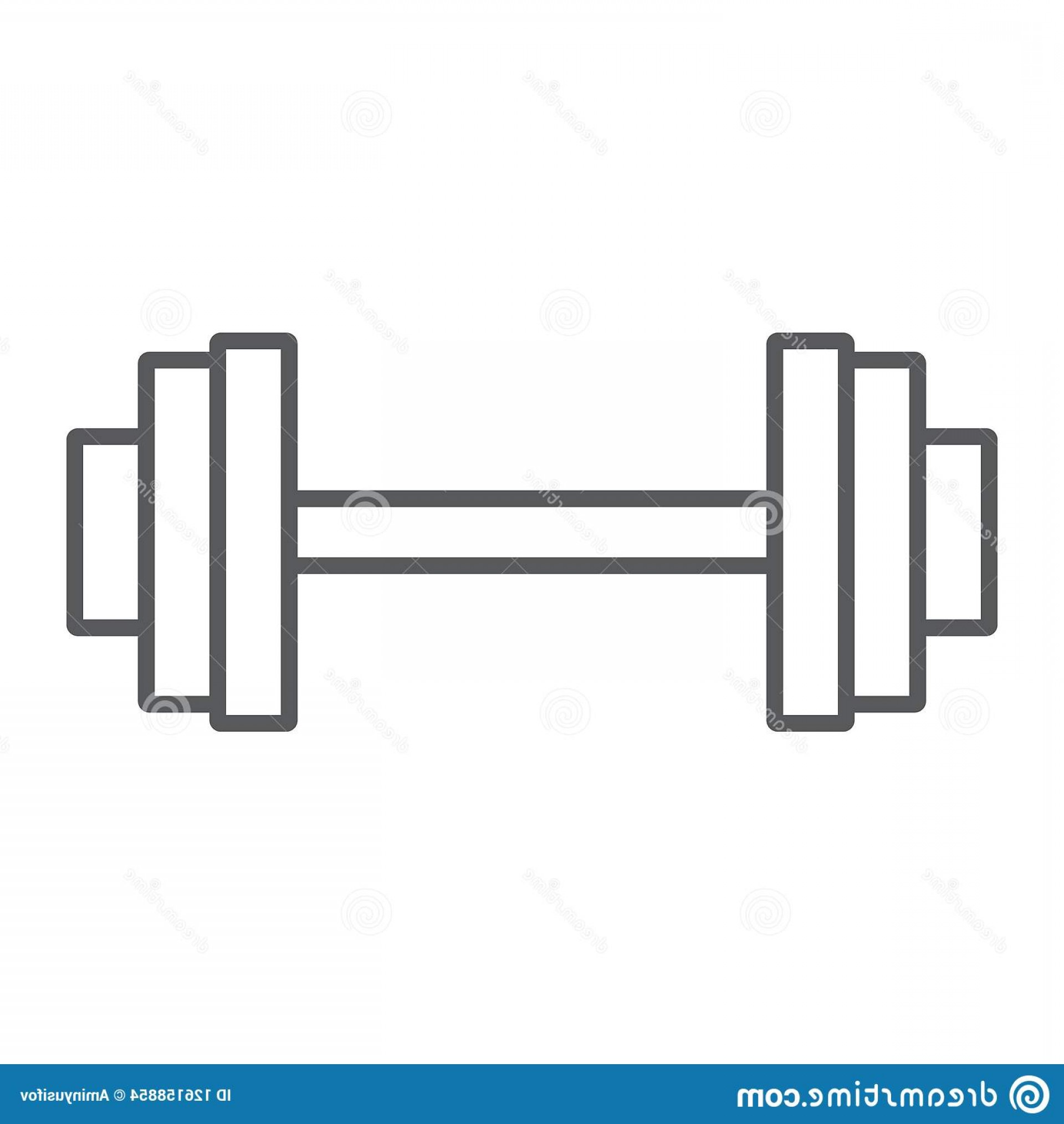 Weight Lifting Vector Graphics: Weightlifting Thin Line Icon Gym Sport Weightlifting Thin Line Icon Gym Sport Barbell Sign Vector Graphics Linear Image