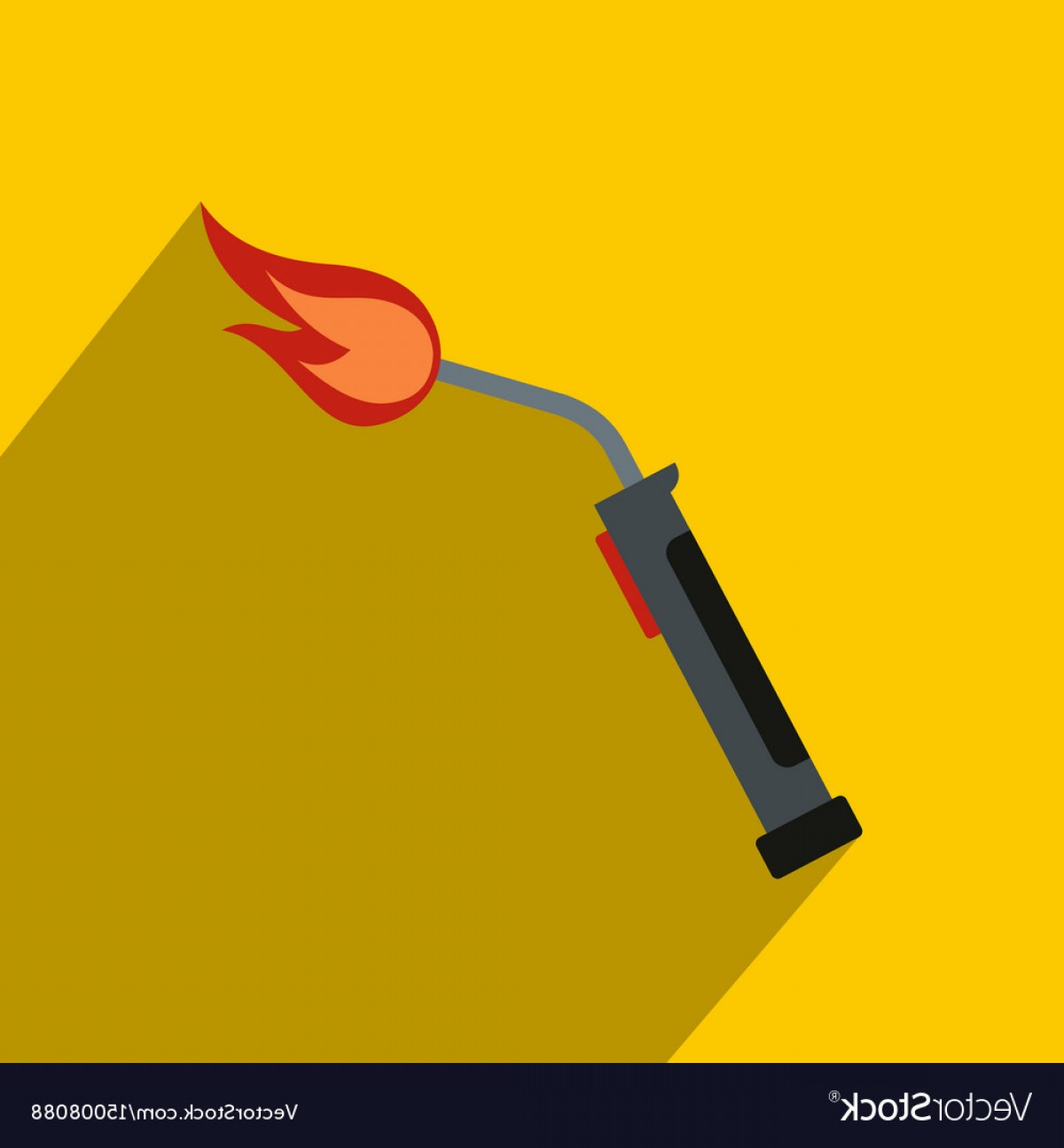 Welder's Torch Vector: Welding Torch Icon Flat Style Vector