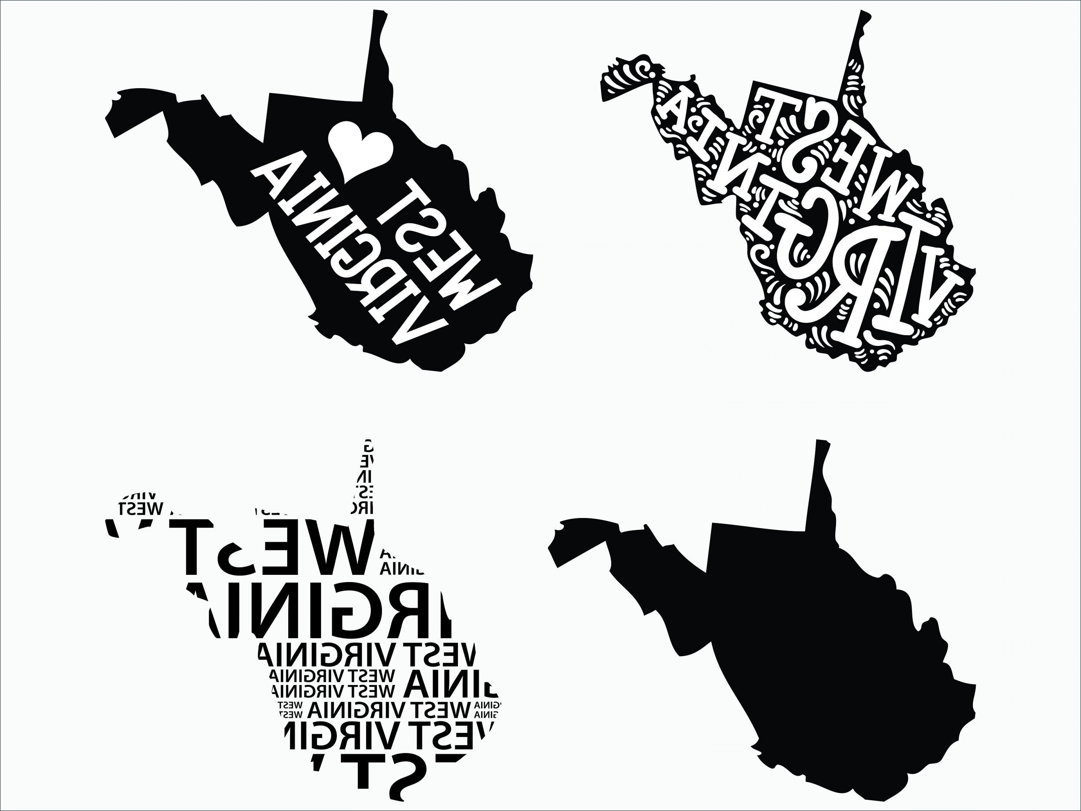 West Virginia Vector Files: West Virginia Designs Svg Dxf Png Eps