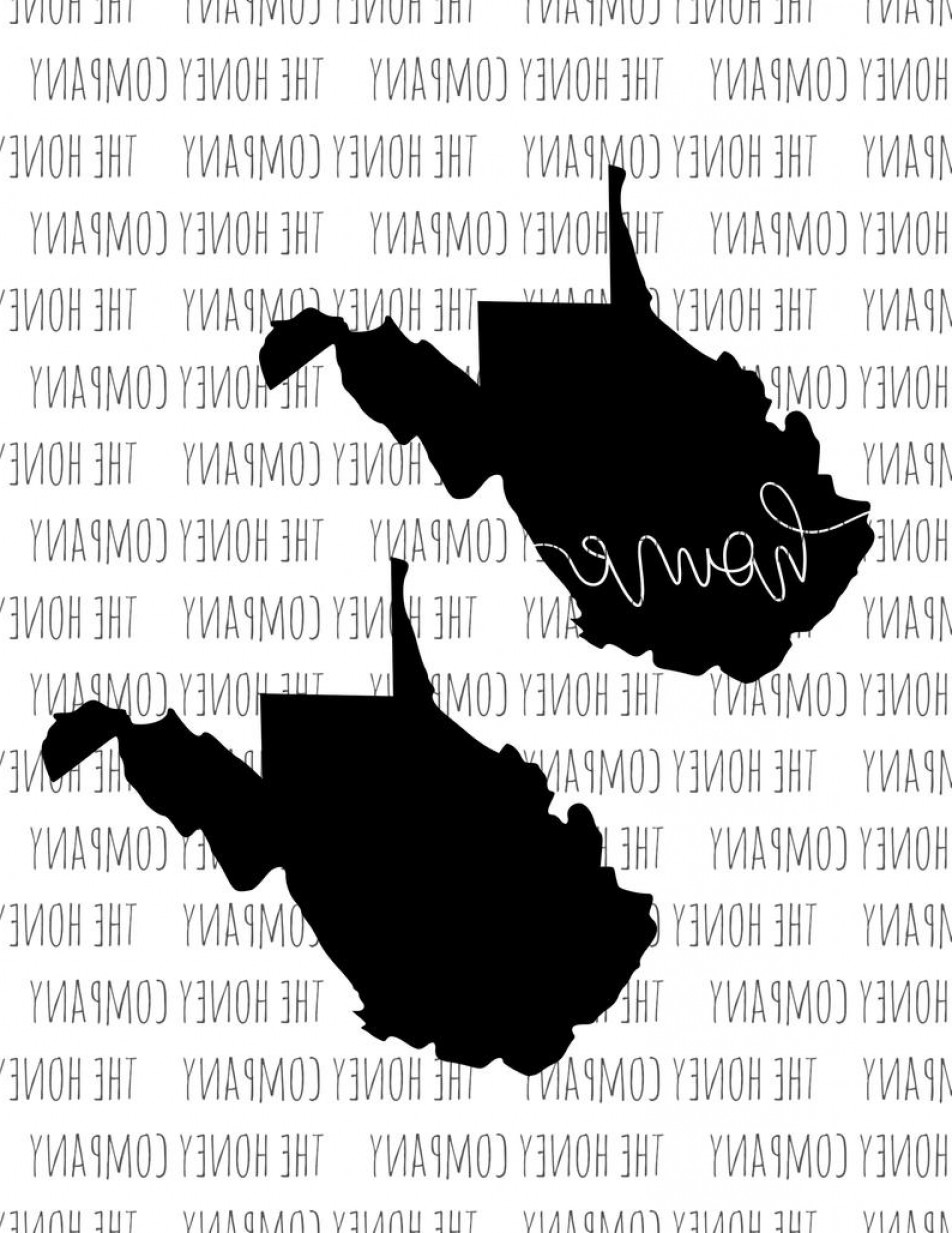 West Virginia Vector Files: West Virginia Svg Png Dxf State Home