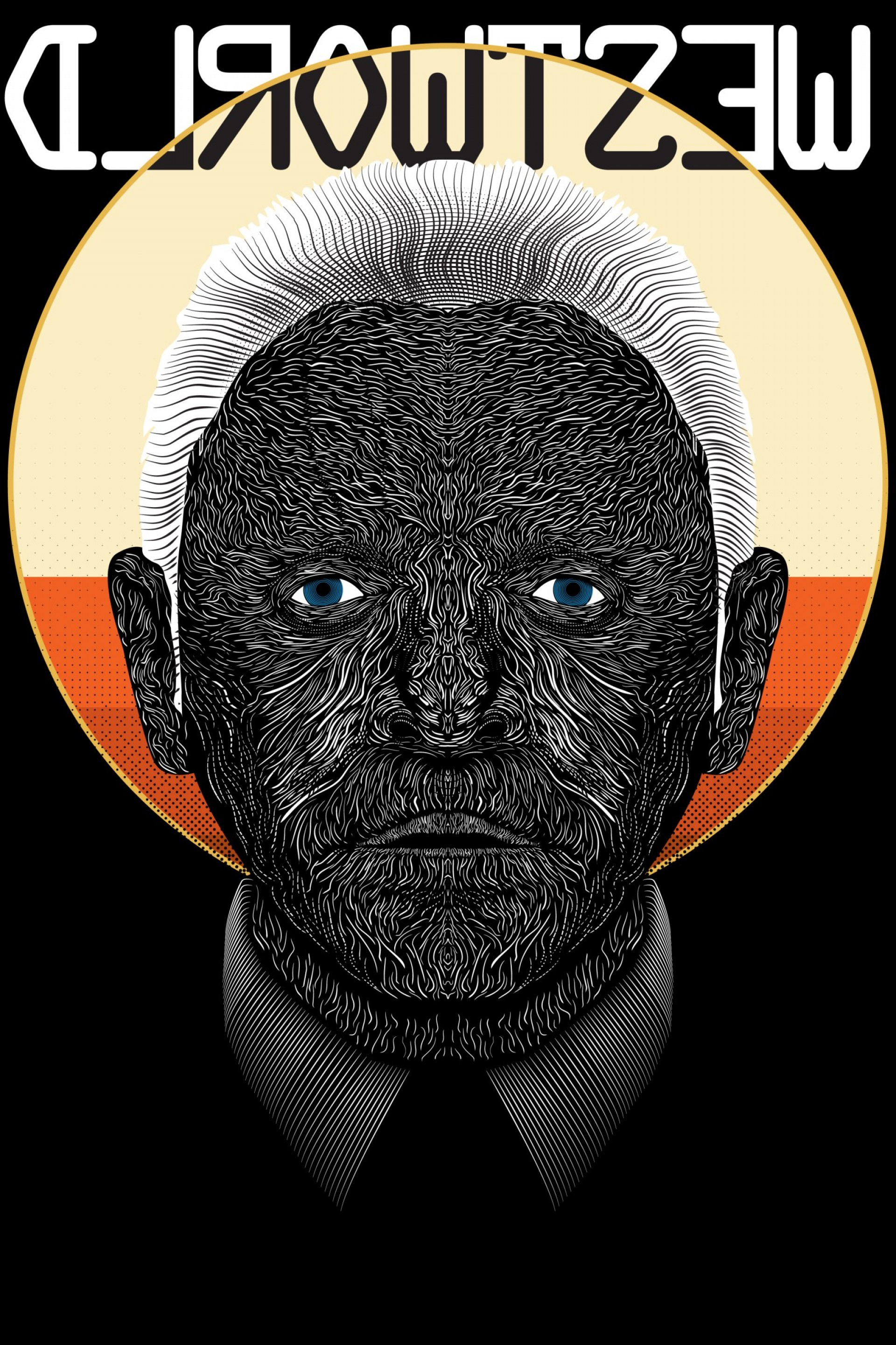 Ford Vector Art: Westworld Dr Ford Vector Line Poster
