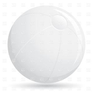 Beach Ball Vector Black And White: White Beach Ball On White Background Vector Clipart