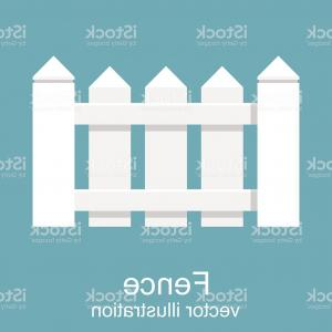 White Picket Fence Vector: White Wooden Fence Picket White Isolated Gm