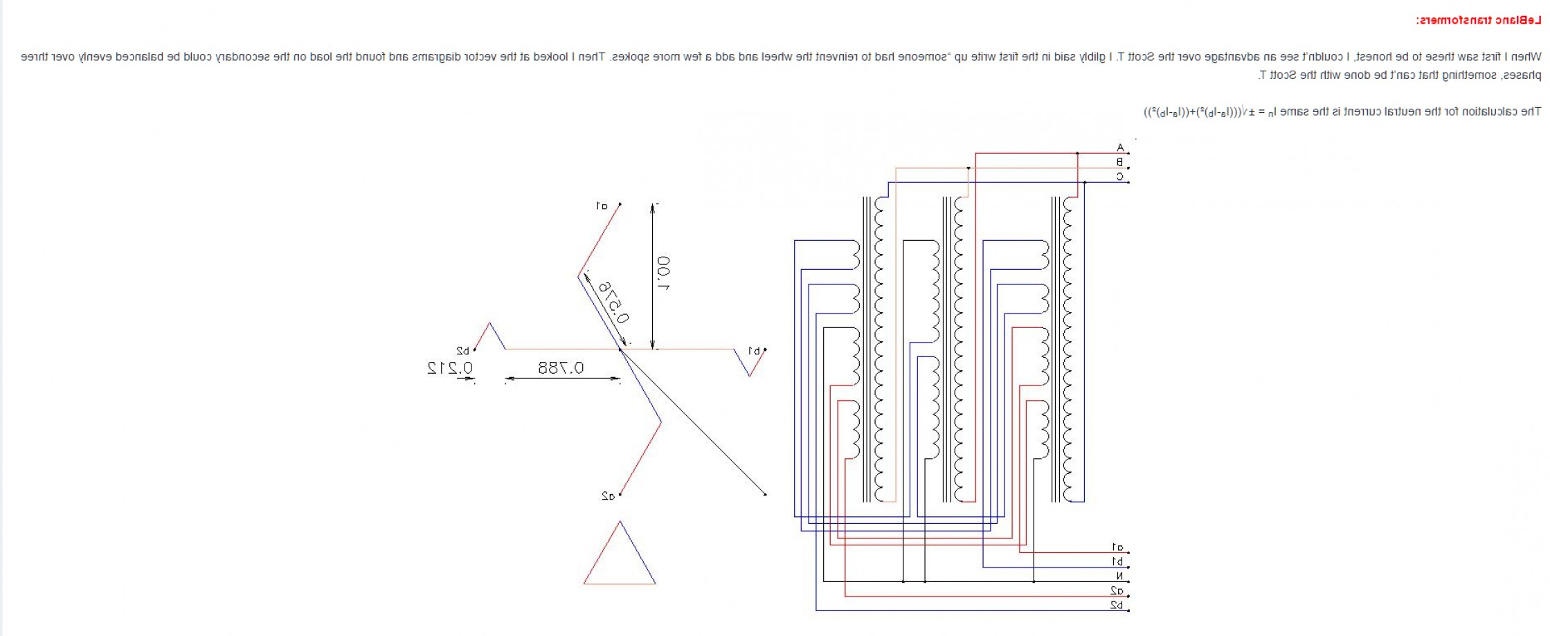 Transformer Vector Diagrams: What Is The Difference Between Scott And Leblanc Transformations
