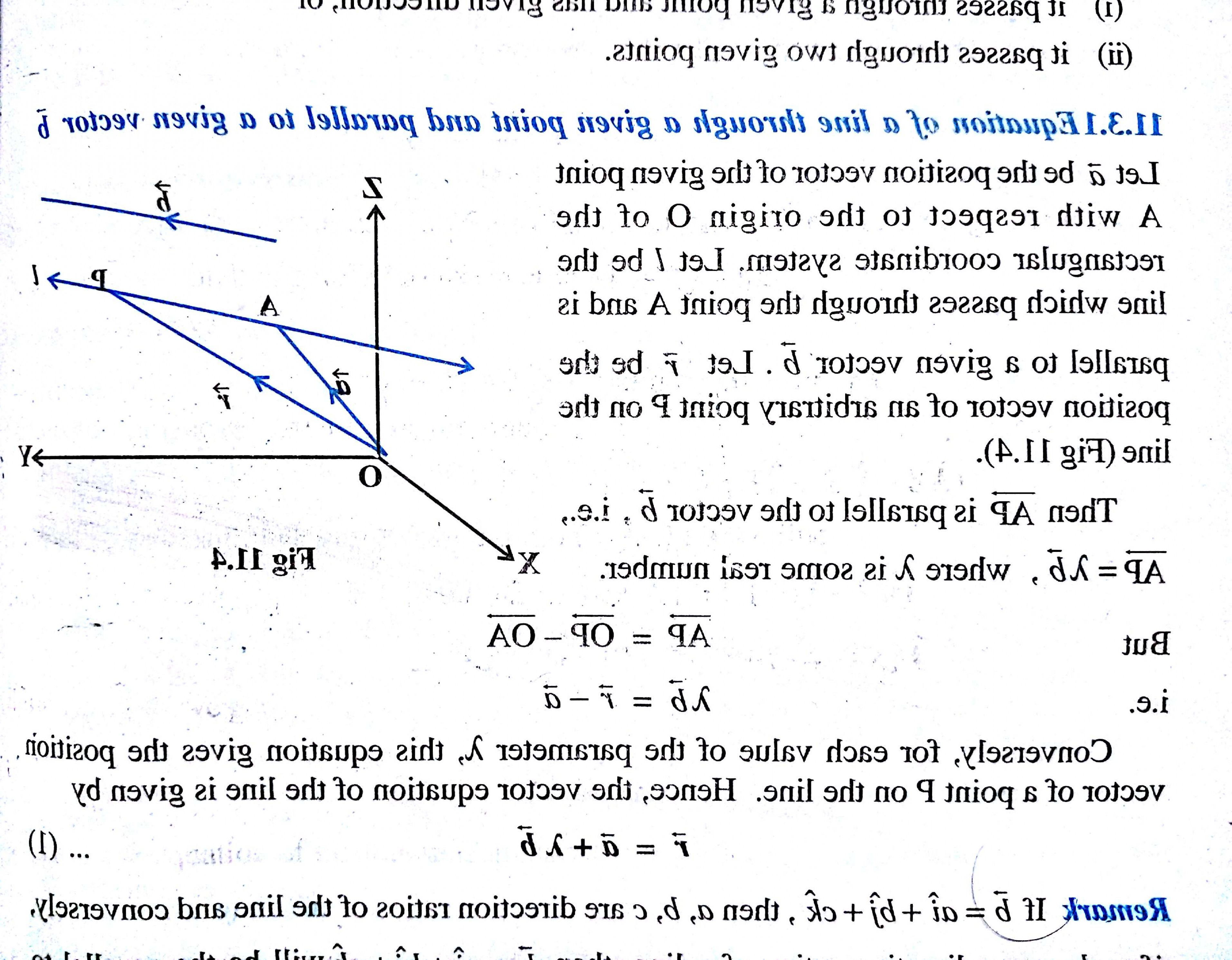 When Two Vectors Are Parallel: What Is Vector Equation Of Line