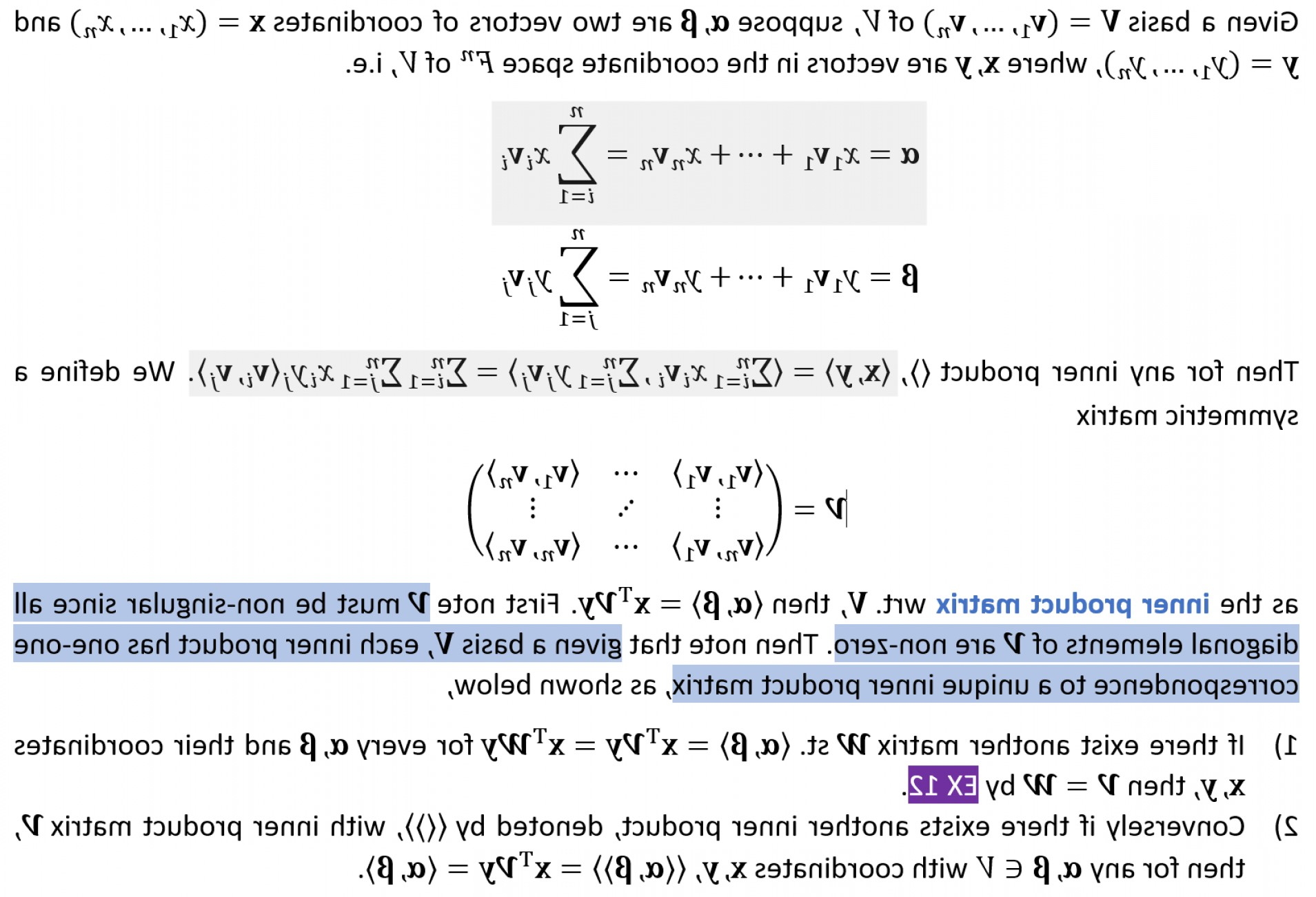 When Two Vectors Are Parallel: What Is Wrong With My Proof That Xhy Xty For Any Complex Vectors X Y