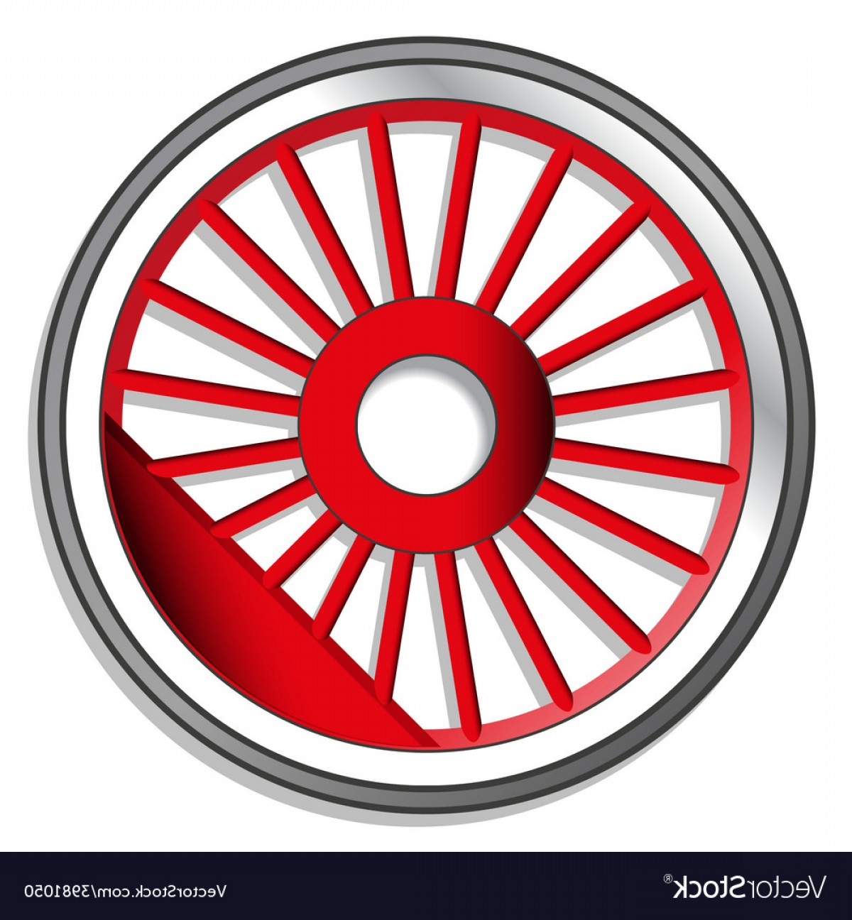 Vector Train Wheel: Wheel Of Steam Locomotive Vector