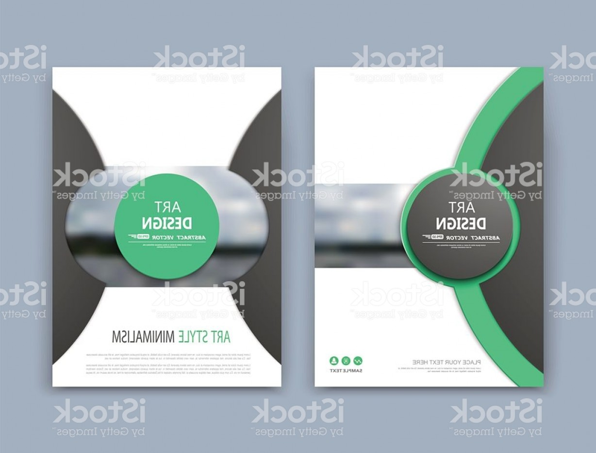 Vector Brochure Cover Designs: White A Brochure Cover Design Green Circle Image Icon Gm