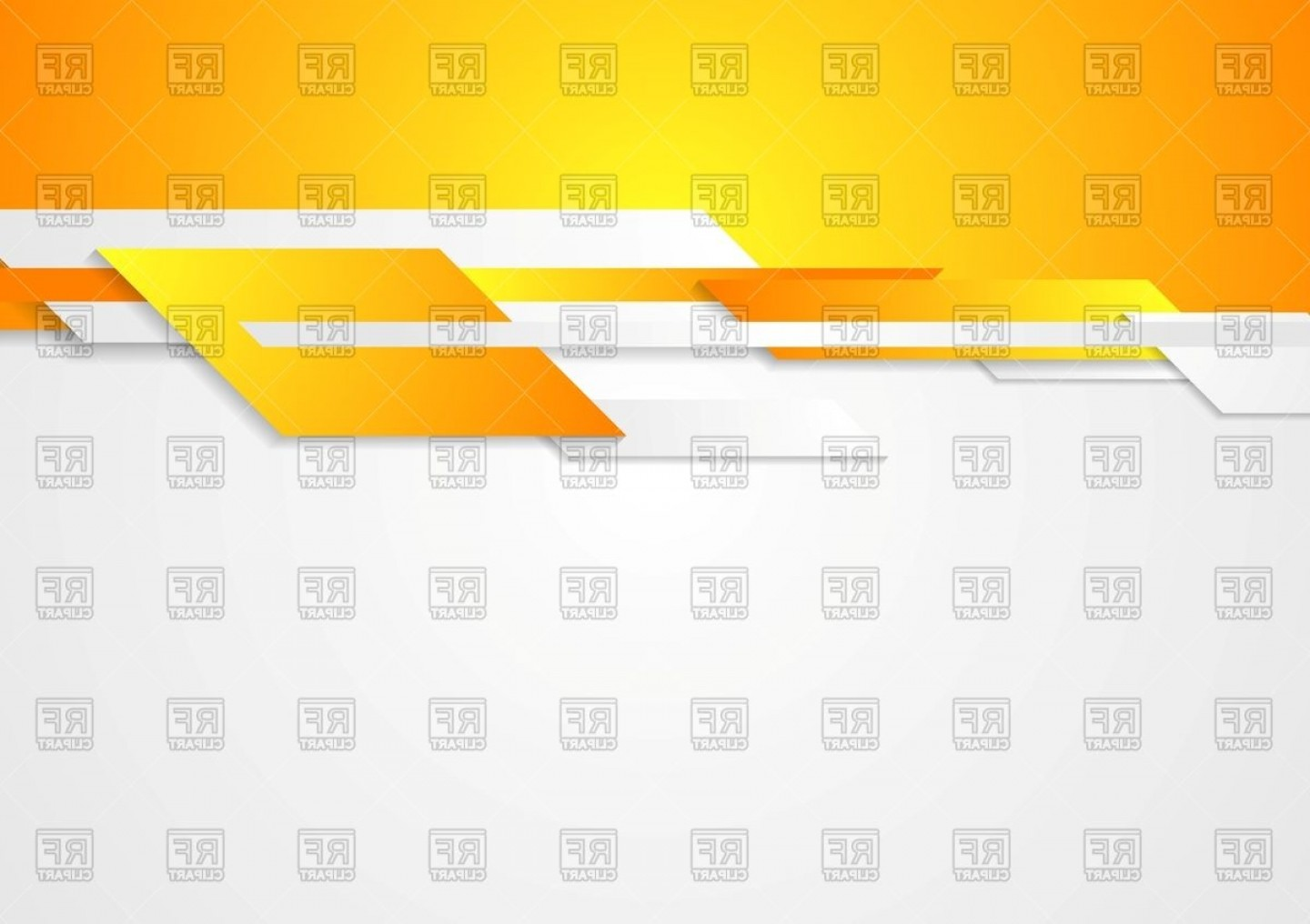 White Orange Vector: White And Orange Corporate Tech Background With Geometric Shapes Vector Clipart