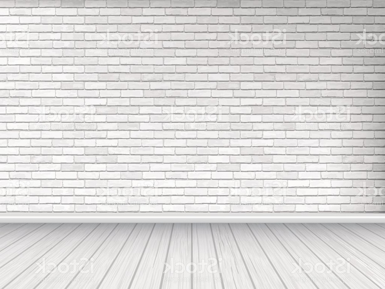 Wall Background Vector: White Brick Wall And Wooden Floor Background Gm