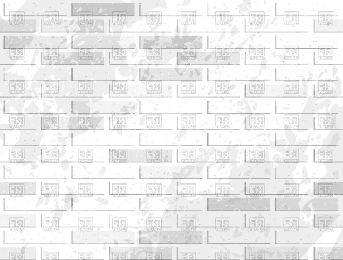 Wall Background Vector: White Brick Wall Background Vector Clipart