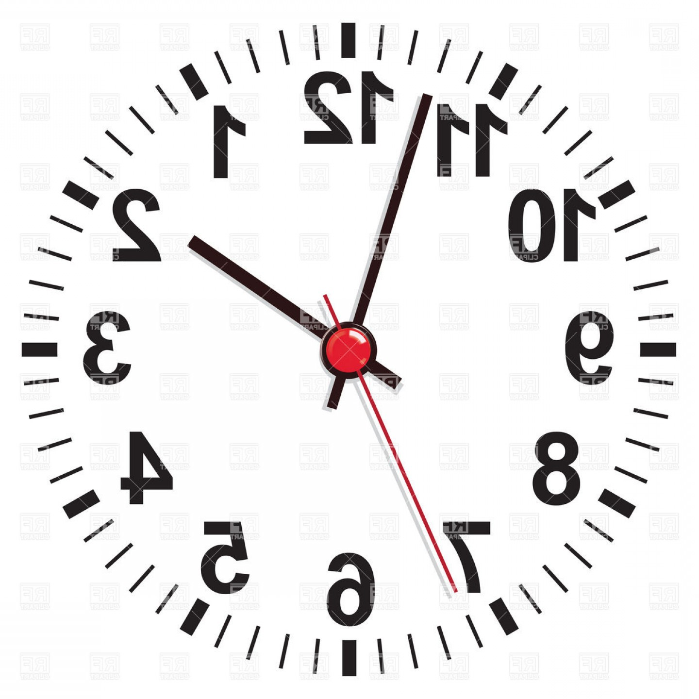 Free EPS Vector Art: White Clock Face Vector Clipart