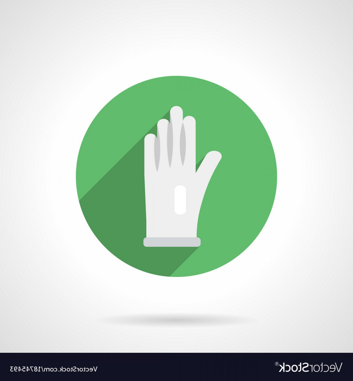 White Glove Service Vector: White Glove Flat Round Icon Vector