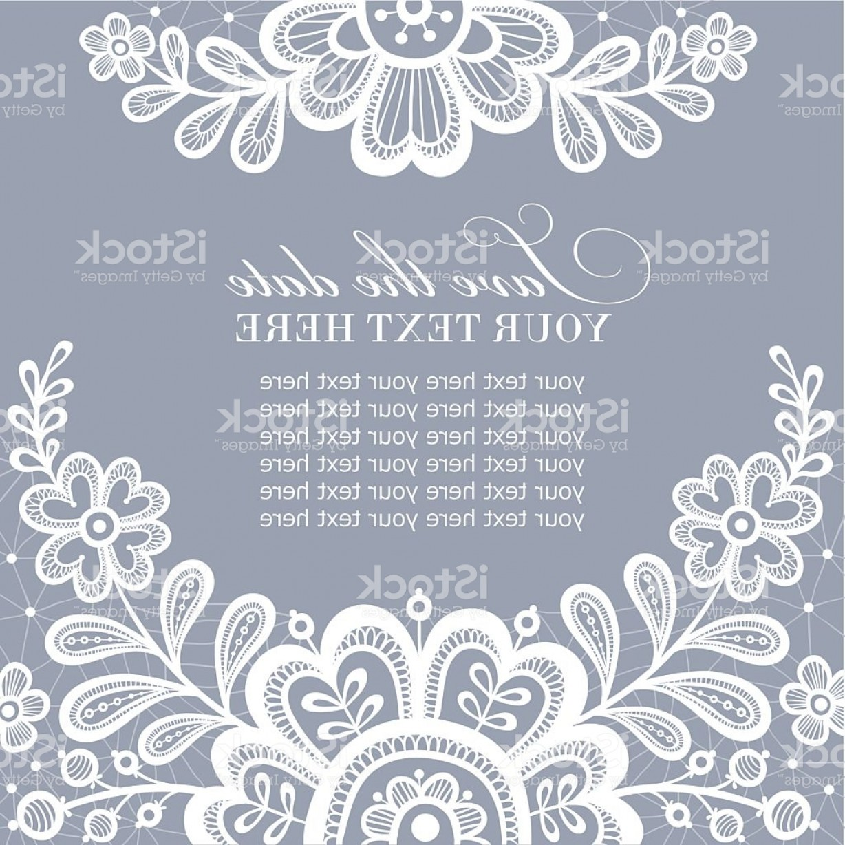 White Lace Vector: White Lace Vector Design Gm