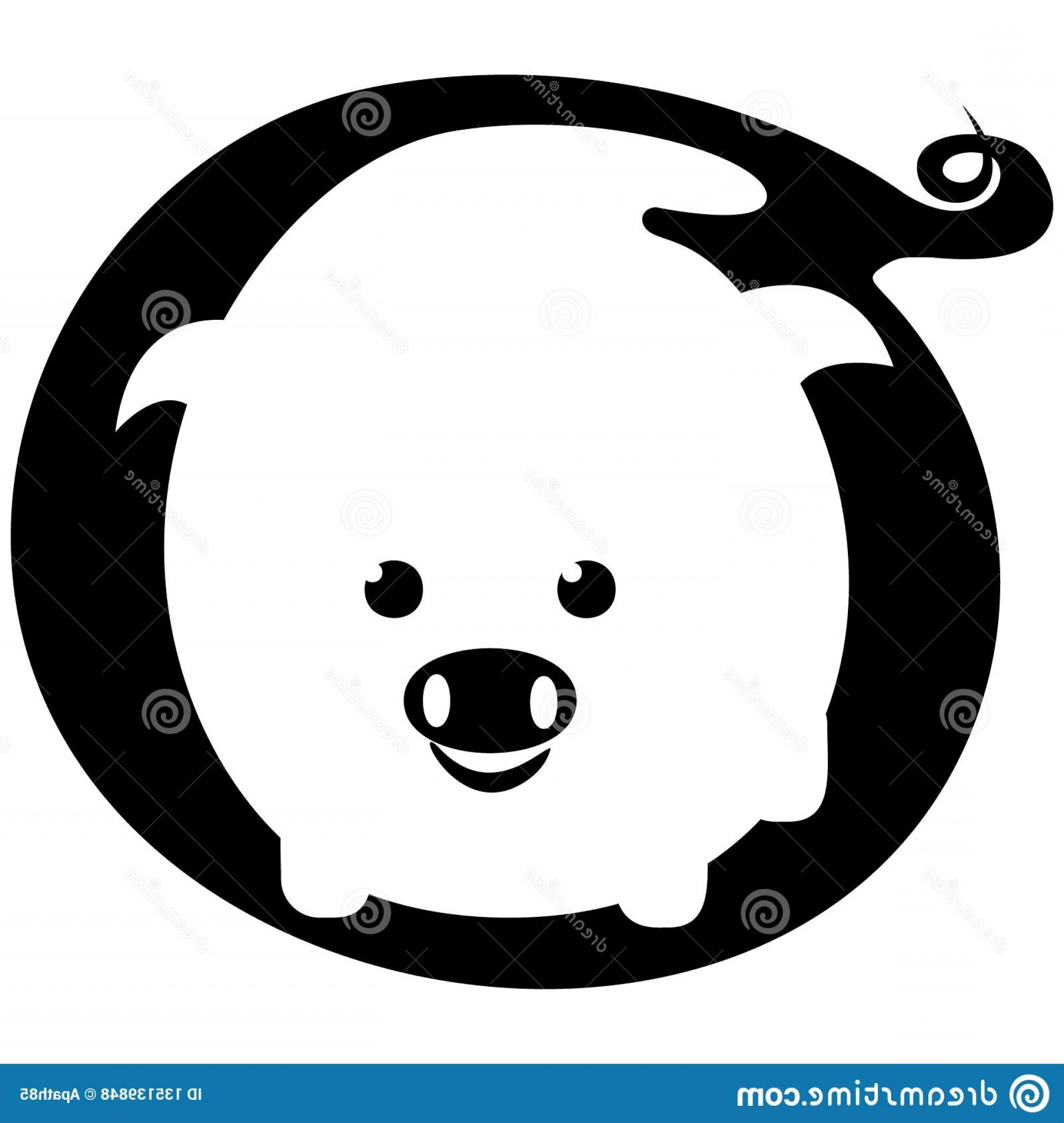 Art Space Logo Vector: White Pig Negative Space Logo Vector Illustration White Pig Negative Space Logo Vector Illustration Eps Image