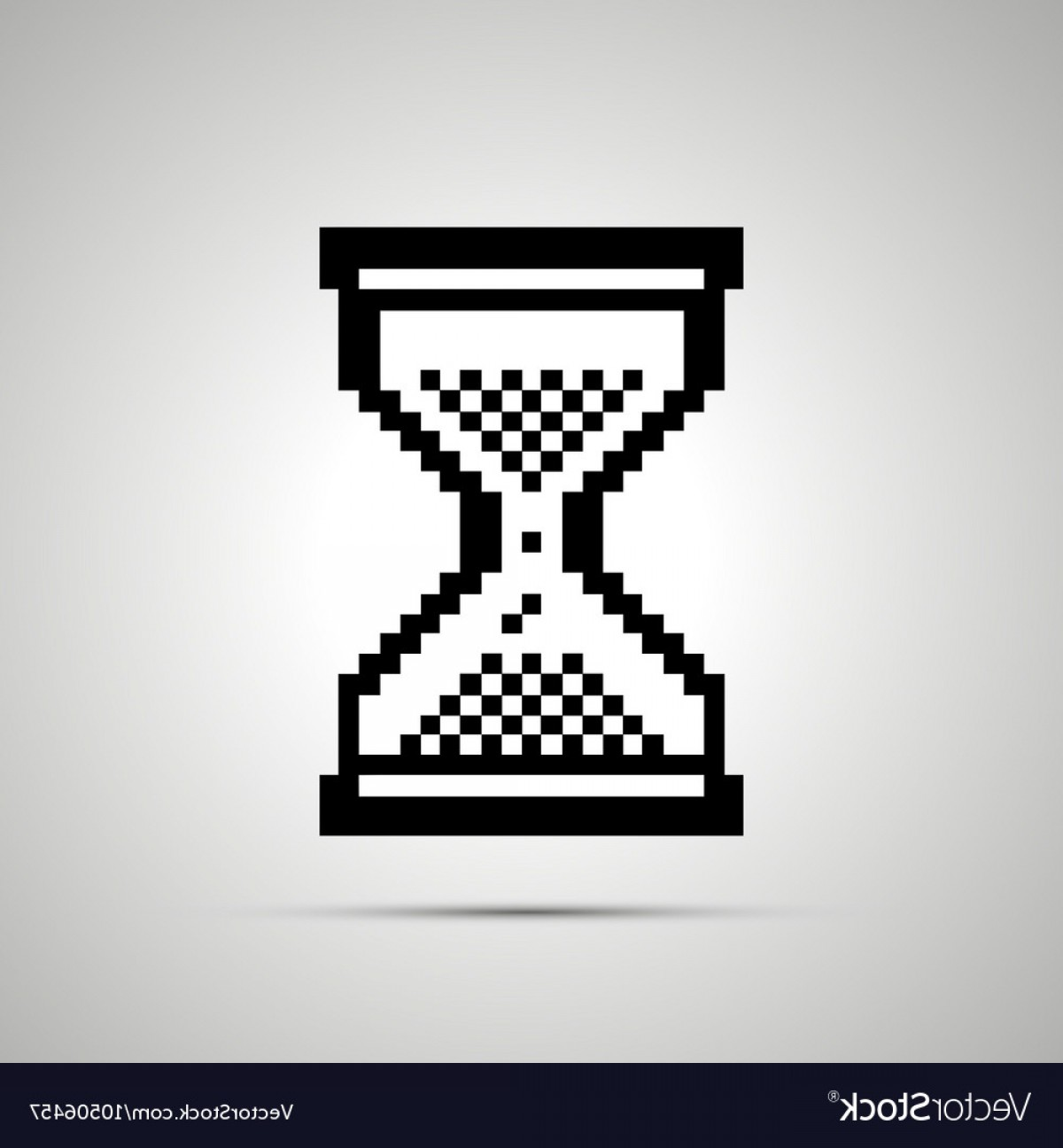 Computer Pointer Vector: White Pixelated Computer Cursor In Hourglass Shape Vector