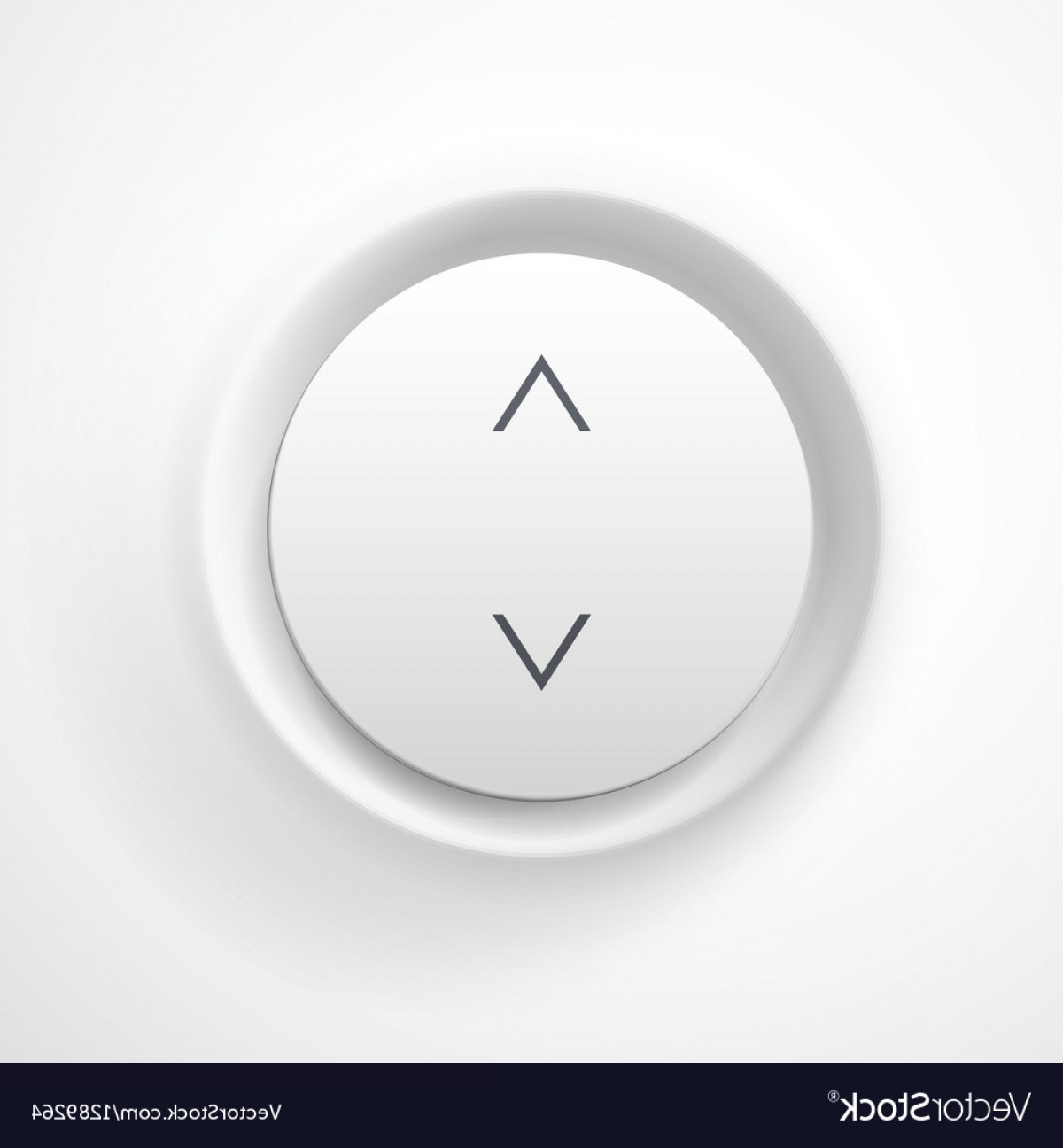 Volume Button Vector: White Plastic Volume Button Vector