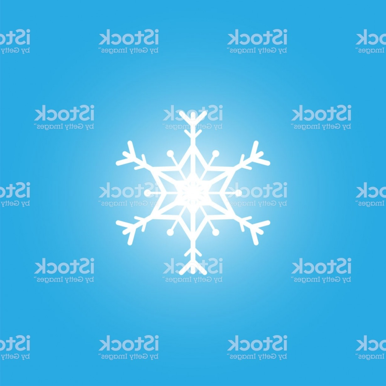 White Snowflake Vector Art: White Snowflake Isolated On Blue Background Gm