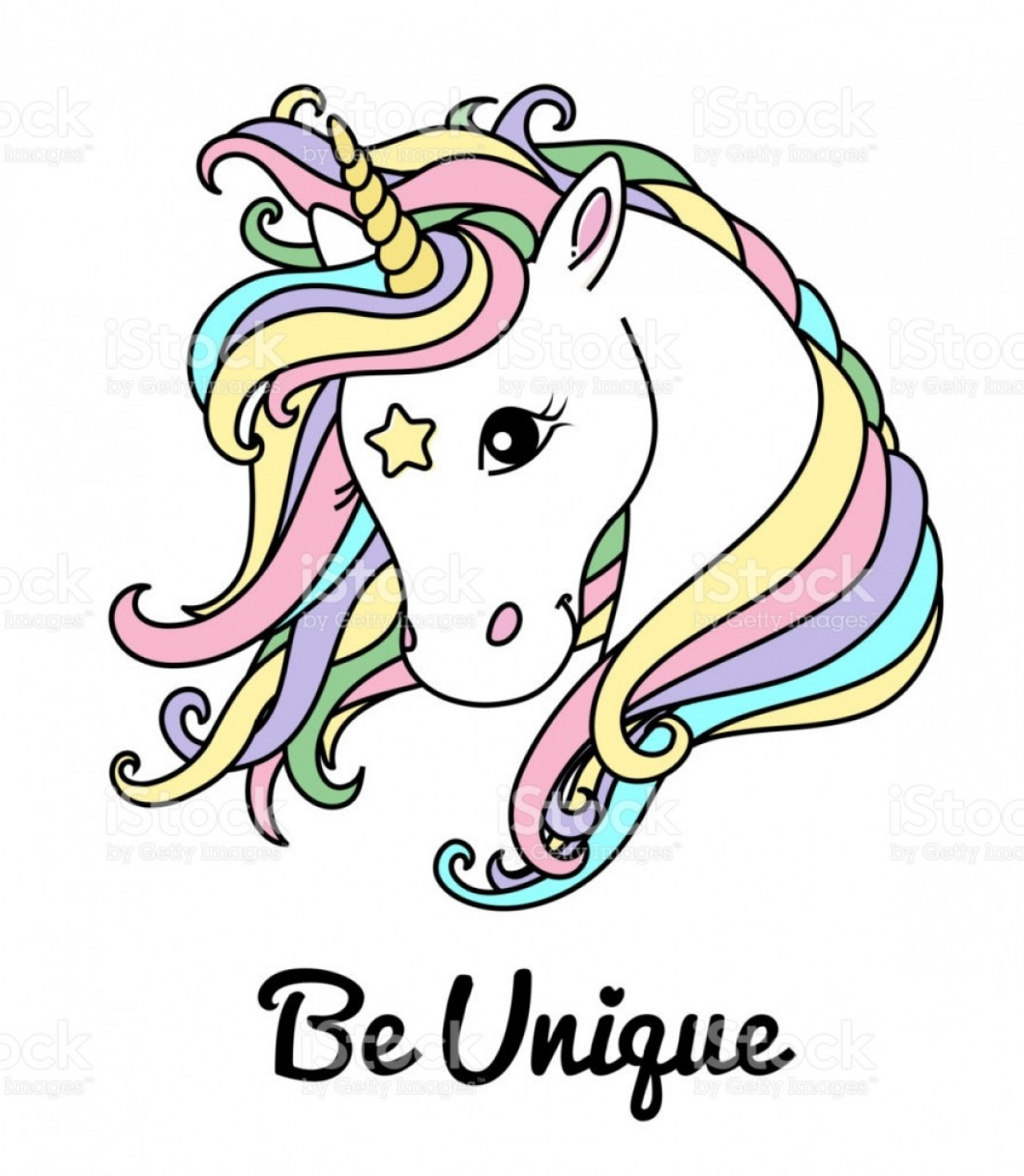 Unicorn Vector Eyes: White Unicorn Vector Head For Shirt Text Be Unique Cute Unicorn With Big Eyes Gm