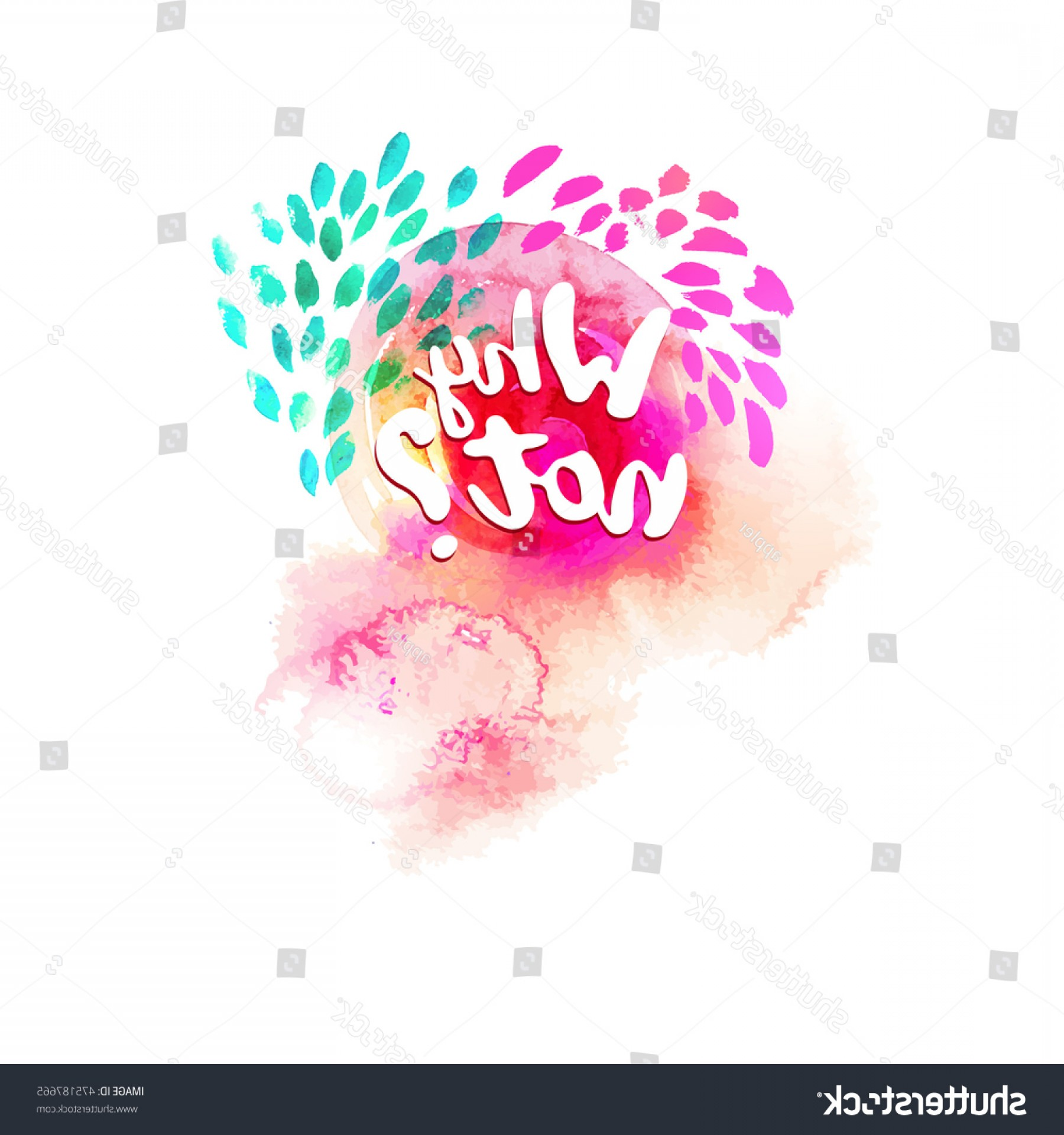 Vector Ban Plus Insecticide: Why Not Typography Watercolor Background Doodle