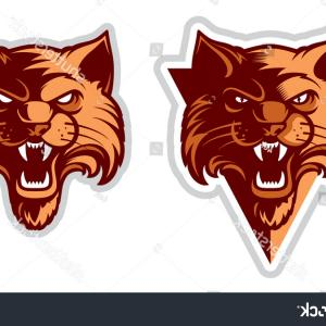 Wildcat Logo Vector: Wildcat Logo Cat Head Logotype Cartoon