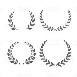 Award Vector Leaves: Photostock Vector Illustration Of A Hand Drawn Wreath Of Laurel Leaves With Award Banner