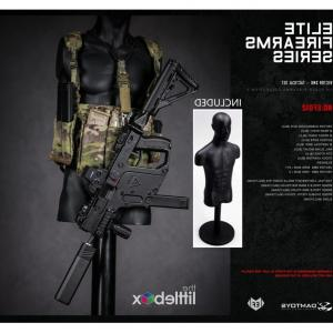 Navy SEAL Vector SMG: With Mannequin Stand Damtoys Scale Ef Elite Firearms Series Vector Submachine Gun Tactical Set Dam Toys