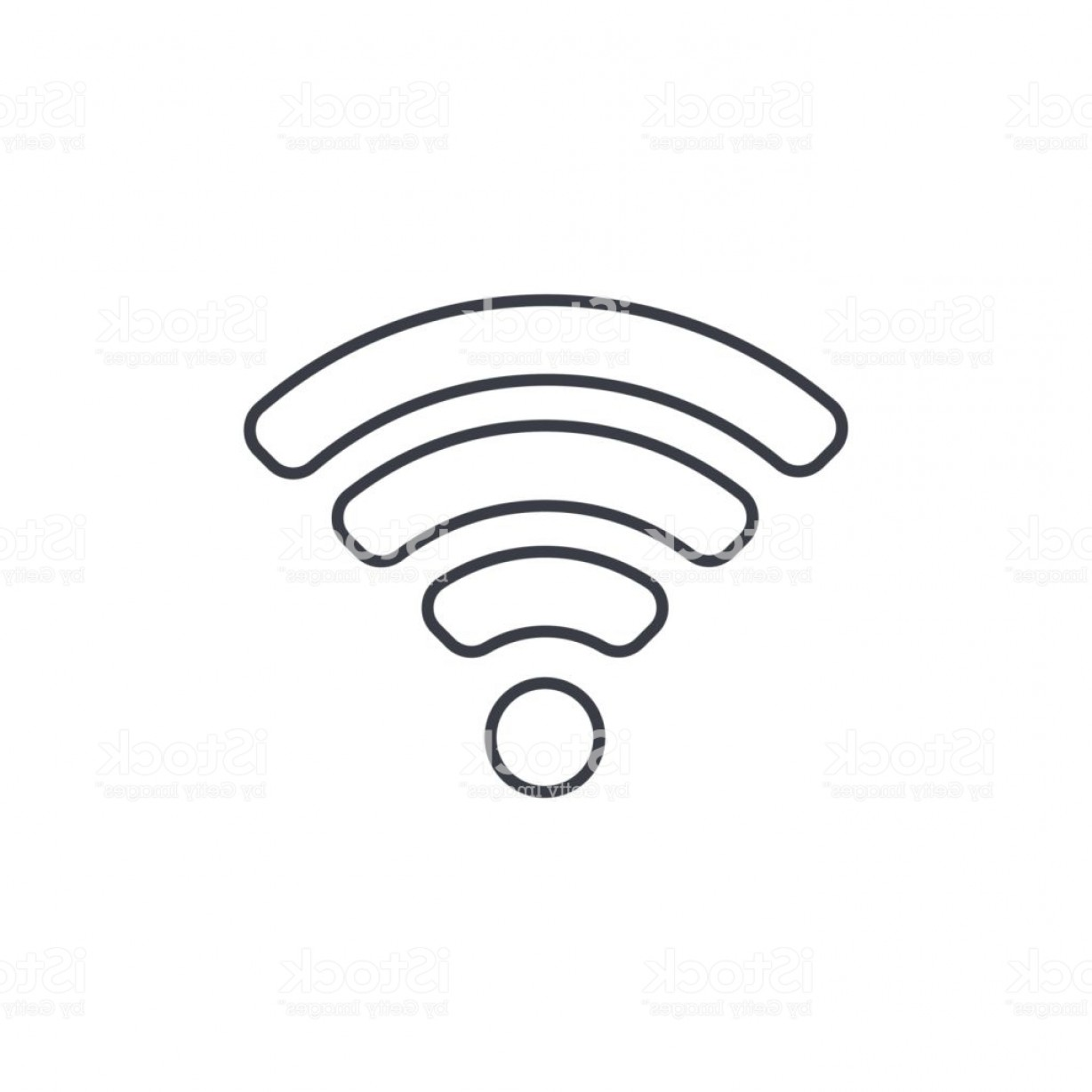 Wifi Symbol Clip Art Vector: Wi Fi Signal Thin Line Icon Linear Vector Symbol Gm