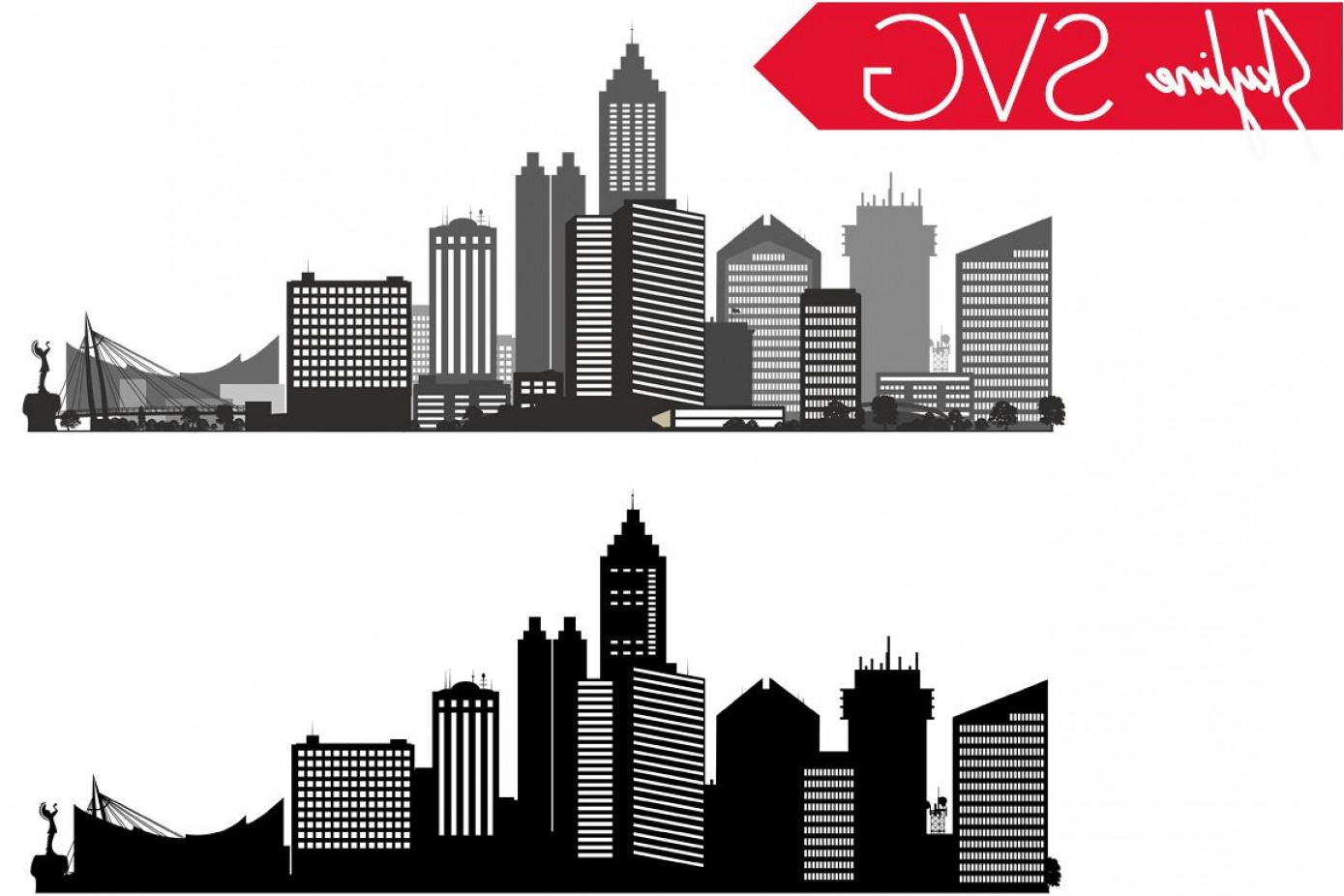City Vector: Wichita Svg Kansas Svg City Vector Skyline Silhouette Usa City Svg Jpg Png Dxf Cdr Eps Ai