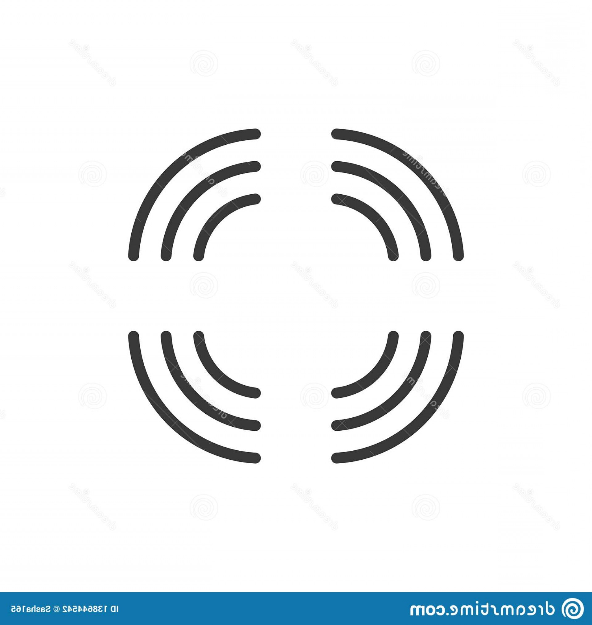 Vector Signal Direction: Wifi Connection Signal Every Direction Strong Internet Coverage Vector Illustration Isolated White Background Image